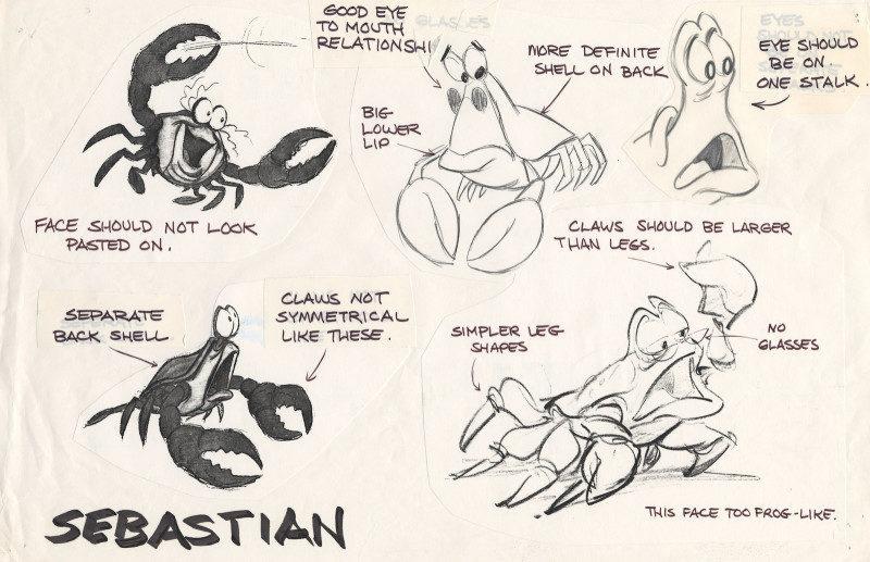 《小美人魚》的珍貴設計草稿曝光 烏蘇拉原本是「超瘦弱的美魔女」...撞臉黑魔女!