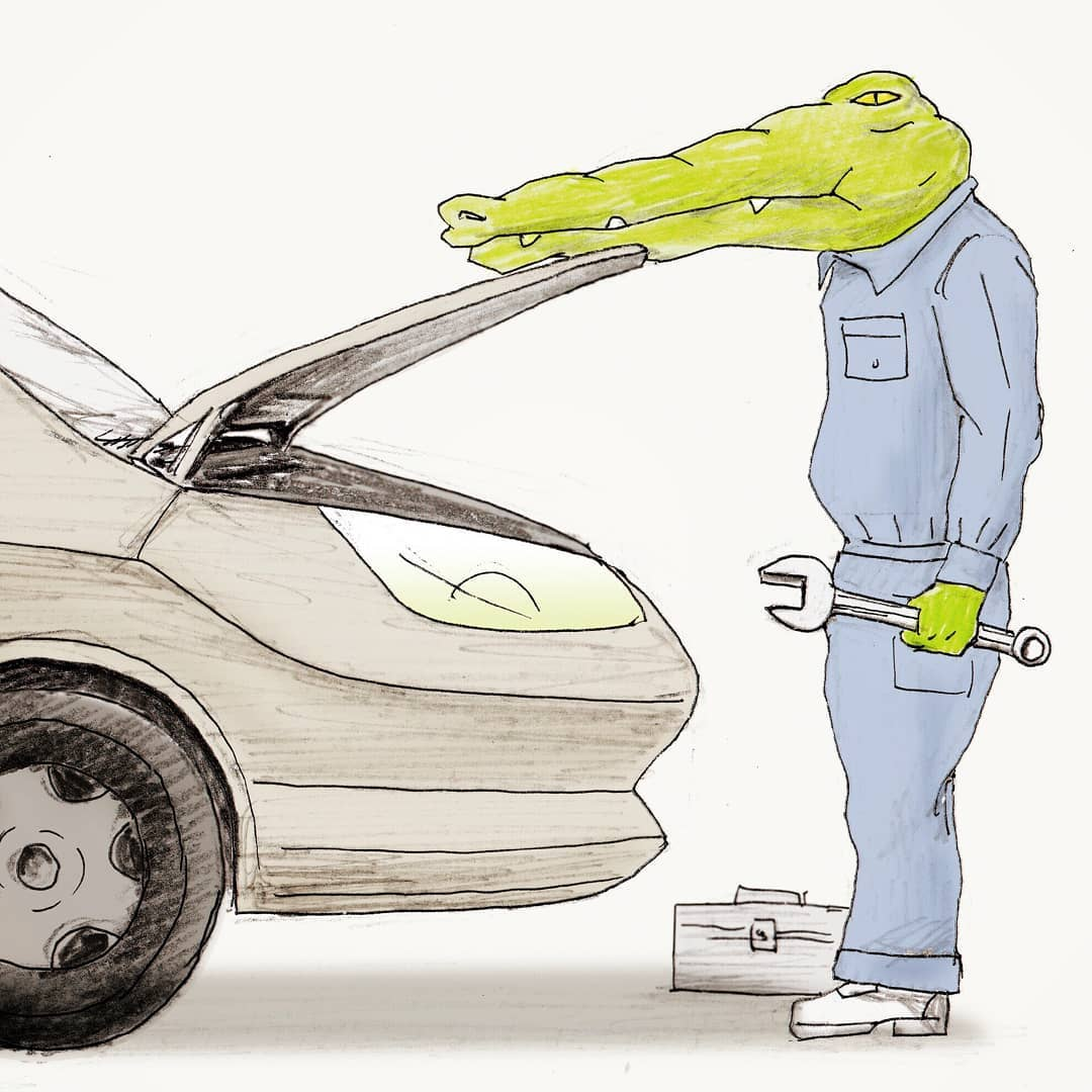 30張讓你笑到升天「腦洞無限大開」插畫新作!鱷魚打棒球...打到直接懷疑人生