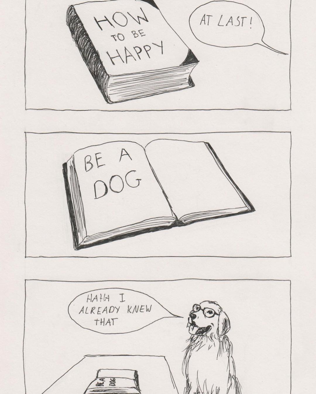 18張讓你只能哭著點頭的「超有共鳴插畫」 打開《如何快樂》的書...答案早就知道了