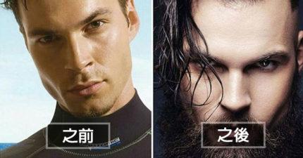 20個「鬍子前後比對圖」證明男人長鬍子是有重要用途的