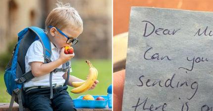為兒子做愛心便當...卻被老師「禁食+退貨」!打開發現「超荒謬紙條」暴怒:吃餅乾也有錯?