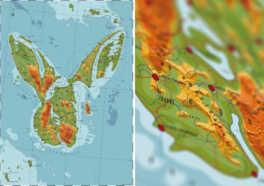17張藝術家「把動物藏進世界地圖」的超狂創作 獅子王國光是「形狀」就超霸氣!