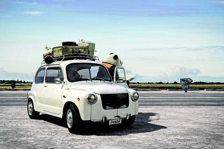 瑞士小哥把經典車款「變身野生動物」可愛程度翻10倍! 河馬頭上的超可愛小角❤