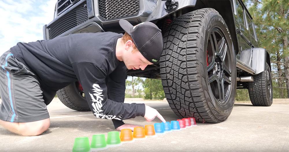 卡車將「壓爆後最紓壓物品」一個個輾爆 壓爆彩色果凍畫面史上最紓壓