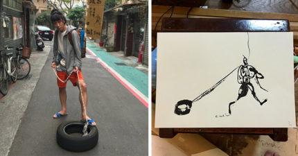 畫家「一毛錢都沒帶」就來台灣環島 日本網友苦勸「全是陰謀」:他在利用台灣人的好!