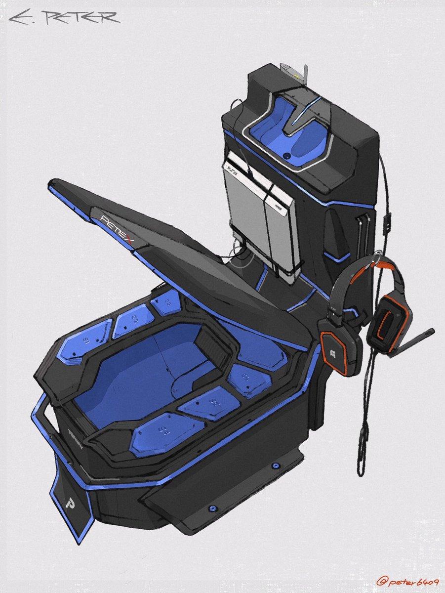 日畫家設計「電玩迷夢想中」的馬桶遊戲機 「內建PS4+藍光照明」網友超興奮:想住廁所!