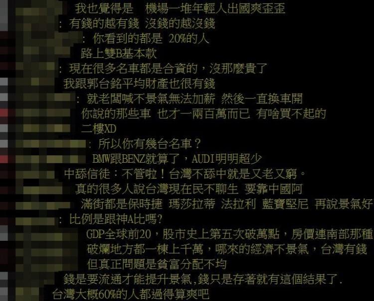 台灣人窮嗎?網友超中肯分析「百貨公司被人塞滿」傻眼:只有1種人會喊窮!