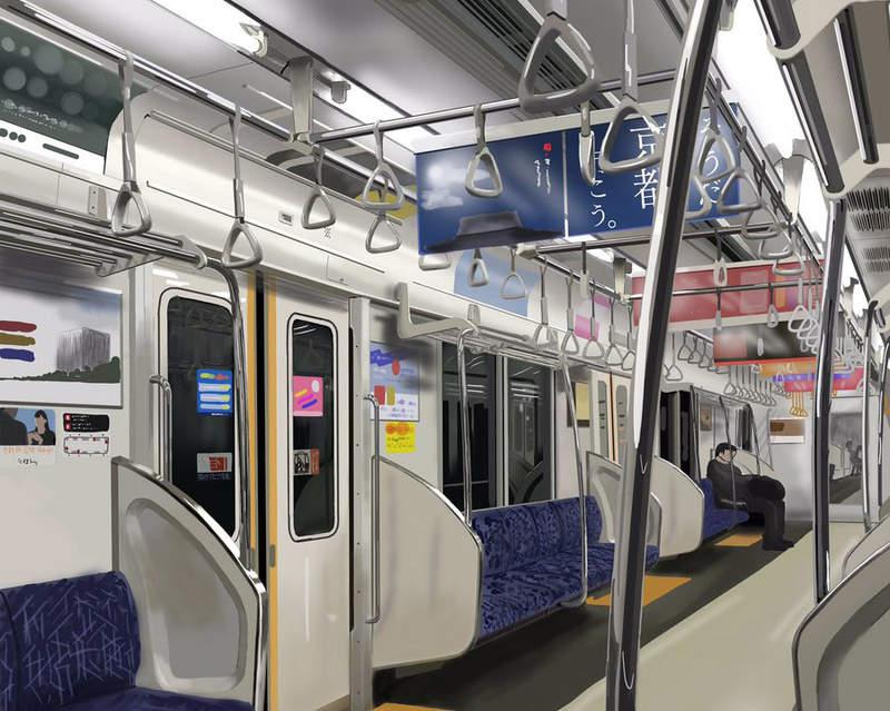 看清楚這不是照片!日本畫師畫「超逼真電車車廂」 細膩到網友想哭