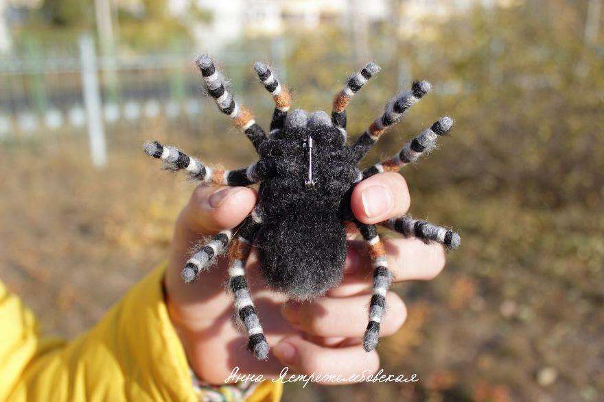 12張「讓你以為下秒就會動起來的」超逼真羊毛氈作品 蜘蛛神還原太毛了!
