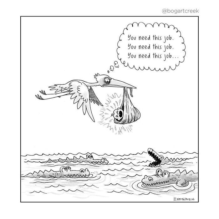 20張「讓你一秒就看透人生」諷刺漫畫 甜蜜愛情的盡頭太可怕