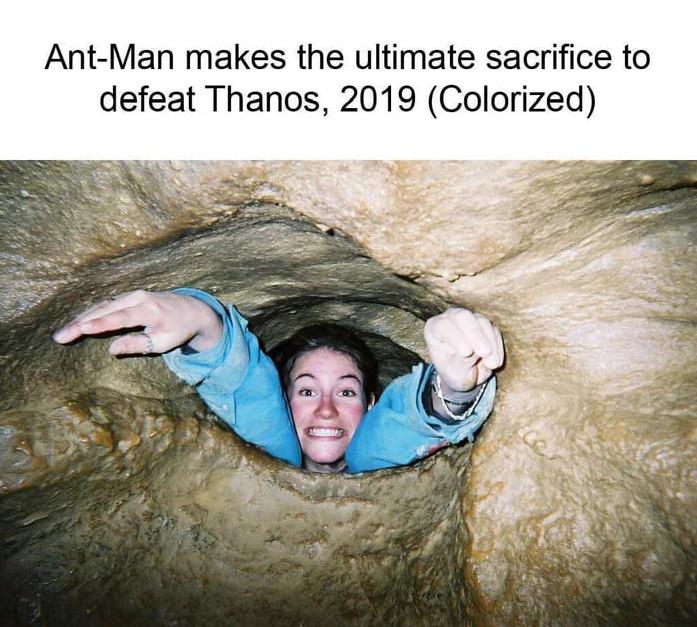 15張證明「蟻人用這招就完敗薩諾斯」的超爆笑照片 他比鋼鐵人還犧牲!