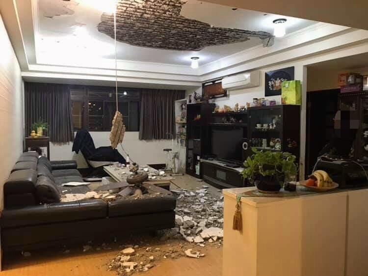 剛到家天花板「整片在地上」吊扇垂直狠親沙發...網爆料:天母有一區都這樣!