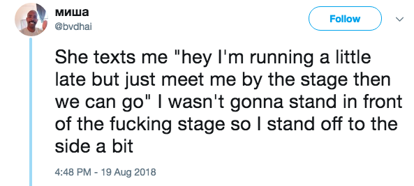 他在網路上認識神秘正妹 第一次約會「她走上演唱會」才發現...整場都是她的對象!