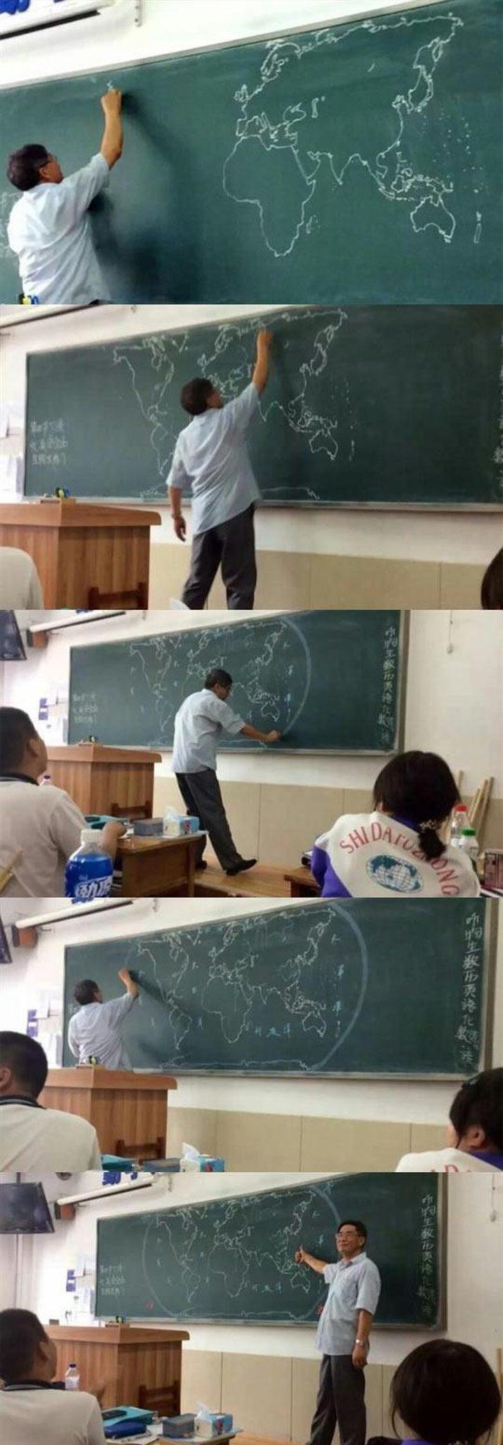 21個讓學生們「早八也捨不得蹺課」的無敵老師 能「徒手畫出世界地圖」的老師都是神