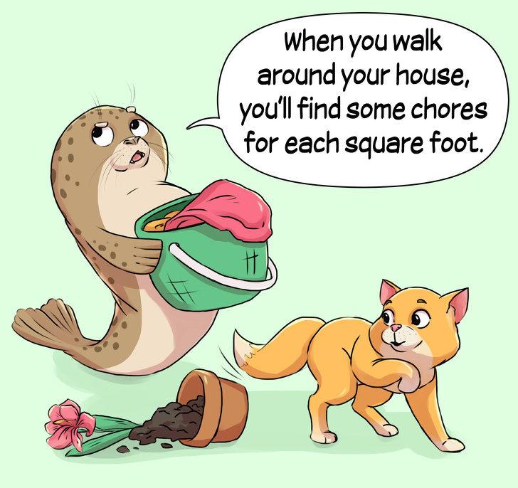 14張「你長大就會知道了」的厭世海豹漫畫 不能「坐在地板上哭」原因太殘忍QQ