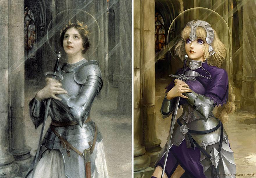 12張意外很搭的「動漫人物Cosplay名畫」震撼插畫 《美少女戰士》油畫版根本0違和!