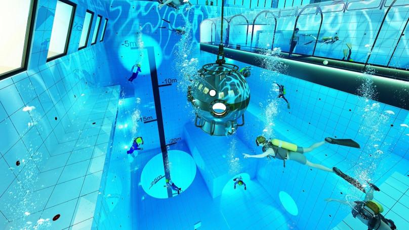 波蘭即將開放「全世界最深泳池」 往下跳就是「10層樓黑暗深淵」...讓你在水裡也會怕高!