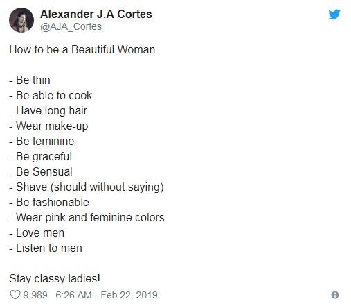 自信哥列12項目教女生「怎樣變成男生想要的樣子」 網友看完氣炸:你先剪頭髮再說!
