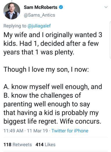 男作家公開表示「生兒子是我人生最後悔的事」 網友預言「10年後的心碎」:你根本不愛他!
