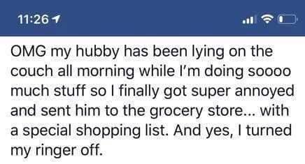 家事做到累成狗「老公卻爽躺沙發」 爆氣媽媽列出超威「假購物清單」報復懶丈夫