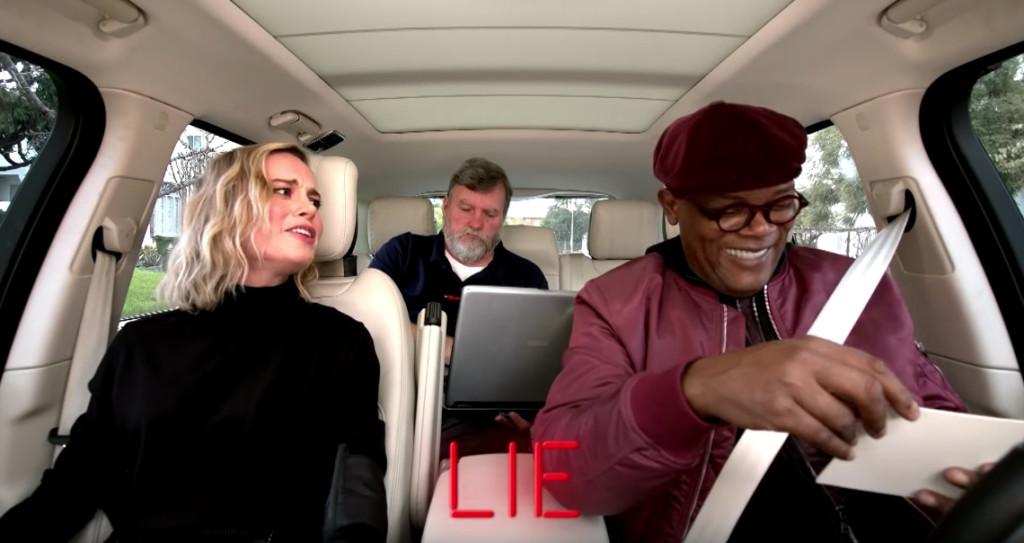 山謬傑克森跟布麗拉森玩「測謊機挑戰」!驚奇隊長「一直說謊」他坦承:每次跟妳演戲我都在放屁