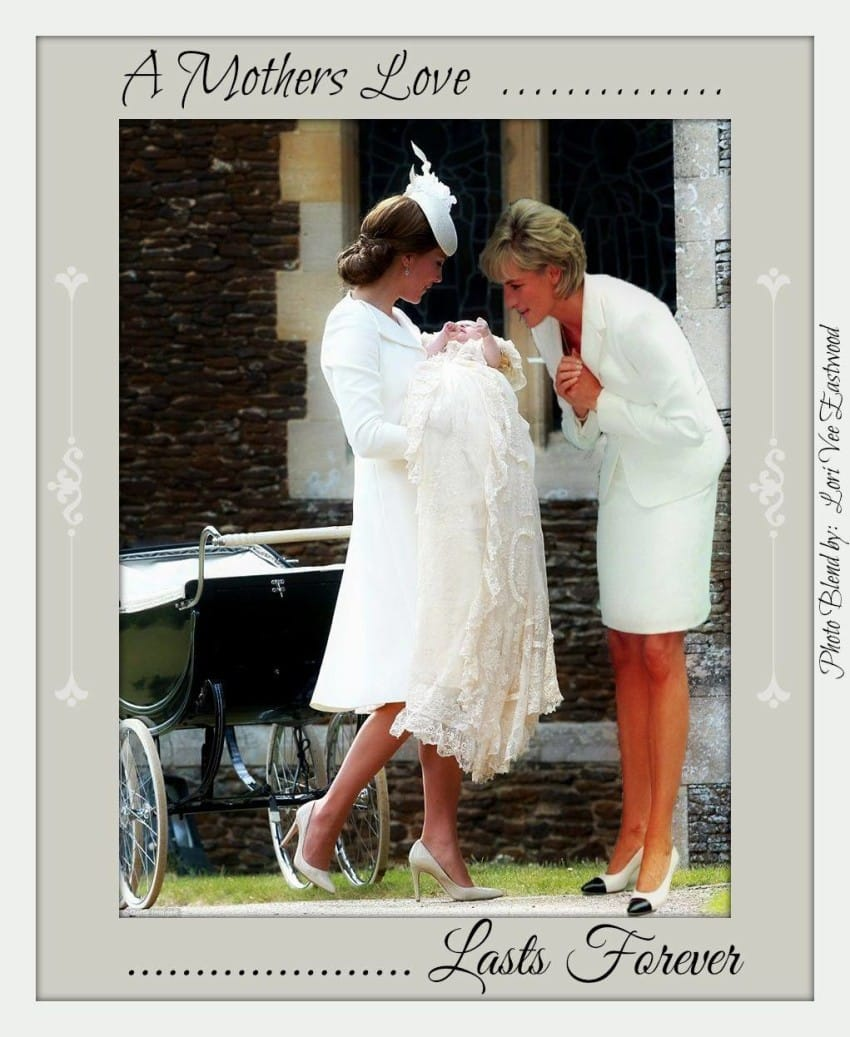 黛安娜王妃「驚喜現身」夏洛特公主身邊 網友看到「她的鞋跟」感動哭:從天國來的...