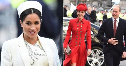 同一場活動梅根堅持花「72萬治裝」超奢侈 凱特輕鬆「穿回收禮服」就成焦點
