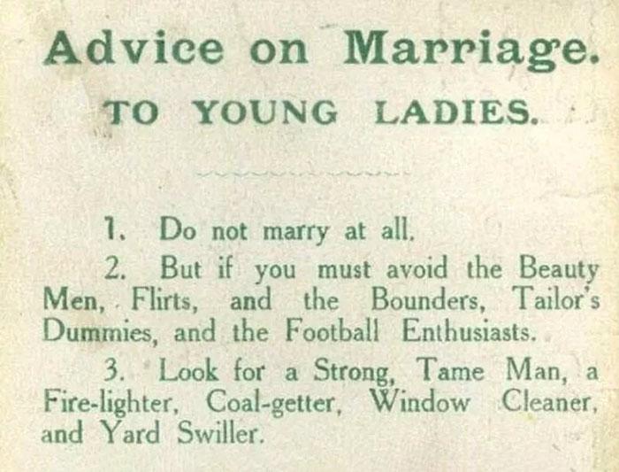 她在1918年列出「給想結婚的傻女人8個建議」 100年後公開網友嚇傻:最強預言家!