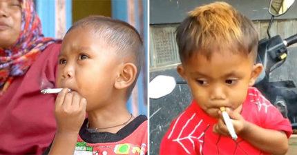 2歲男童「在路上撿菸蒂」一天狂抽2包 媽媽「笑得出來」卻惹火眾人
