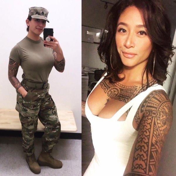 30張「制服下有著超大反差」的超猛正妹 女軍人穿上火辣禮服...敵人自動流鼻血!