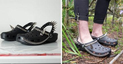 暗黑系「哥德風龐克洞洞鞋」強勢回歸 超狂「26根煞氣鉚釘」網友大推:這雙可防身!