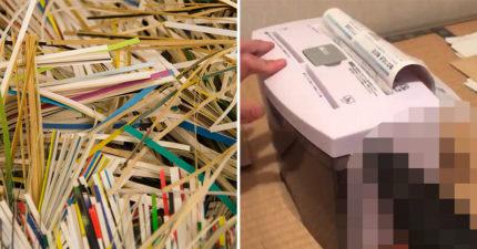 神人把手動碎紙機改造成「超高速自動版」 用同一招連刨冰都可以搞定!