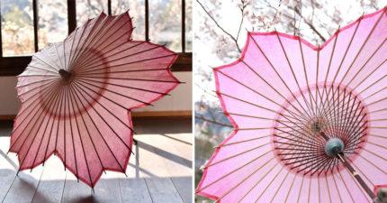 日本打造浪漫爆表「夢幻櫻花和傘」 近看「迷你透光櫻花」讓人買了只想當擺飾!