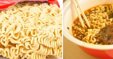 泡麵形狀為什麼不是直直的?工廠曝光「波浪形」真相:直的不會好吃!