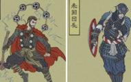 如果英雄來自日本?畫家創作超帥「浮世繪風」《復仇者》 「藝妓版黑寡婦」完全沒違和!