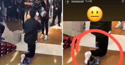 男生排隊買球鞋「順便求婚」被瘋傳 單膝下跪「寶貝先放旁邊」女網友暴怒:到底愛誰?