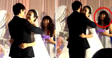 婚禮當天發現伴娘少一個...義氣哥秒「穿上白紗」讓所有賓客超感動!