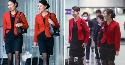空姐穿絲襪只是為了美觀?網友公布「她們不得不穿絲襪」的背後原因令人敬佩!