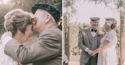 攝影師幫結婚60年老夫婦「拍人生第一組婚紗照」 重現「感人婚禮現場」網讚:又相信愛情了!