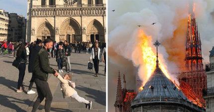 聖母院慘劇前1小時之前...他隨手拍下「最後絕美照」現在50萬人瘋狂急尋這對父女!