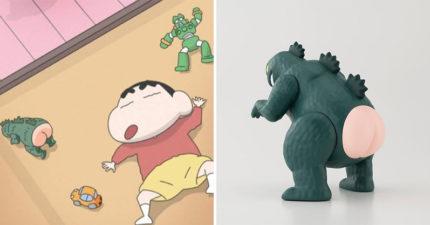日本推出《蠟筆小新》的「光屁屁怪獸」實體公仔 完整還原「可以拆功能」網:超療癒!