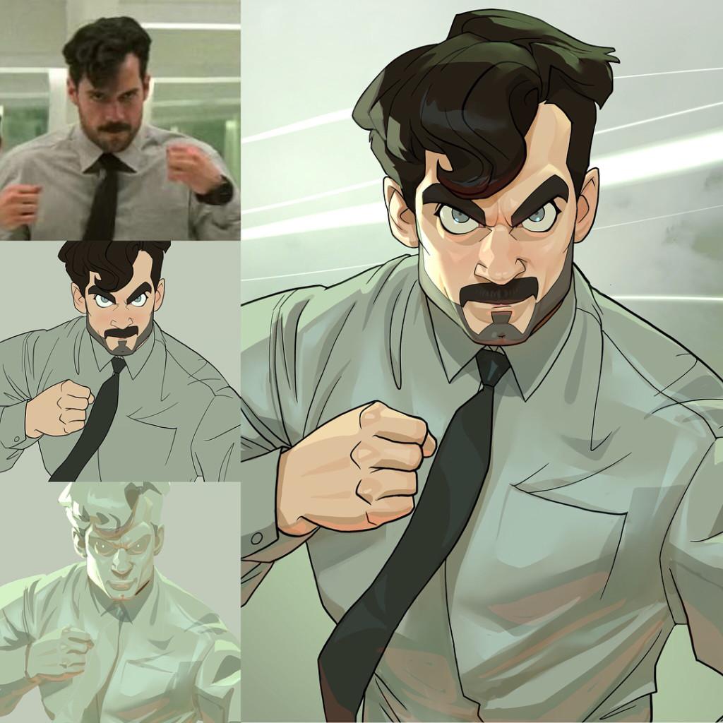19張「把名人變身迪士尼動畫人物」0違和感插畫 水行俠霸氣滿分、鋼鐵人超可愛!