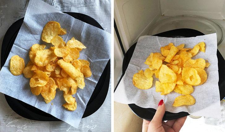 15個連媽媽都不知道的「廚房秘密生活技能」 軟掉的洋芋片還有重生機會