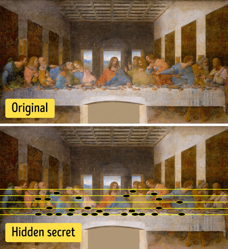 10個世界名畫中「被巧妙藏起來的祕密」 《最後的晚餐》可以唱出一段旋律!