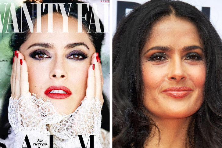 16位被公布「修圖前後對比」的好萊塢女星 席琳狄翁51歲「跟20年前一樣美」!