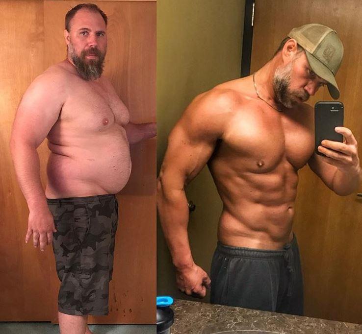 中年大叔帶妻小爬山卻「完全跟不上」嚇呆 狠甩40公斤肥肚變身「浩克級老爹」超帥!