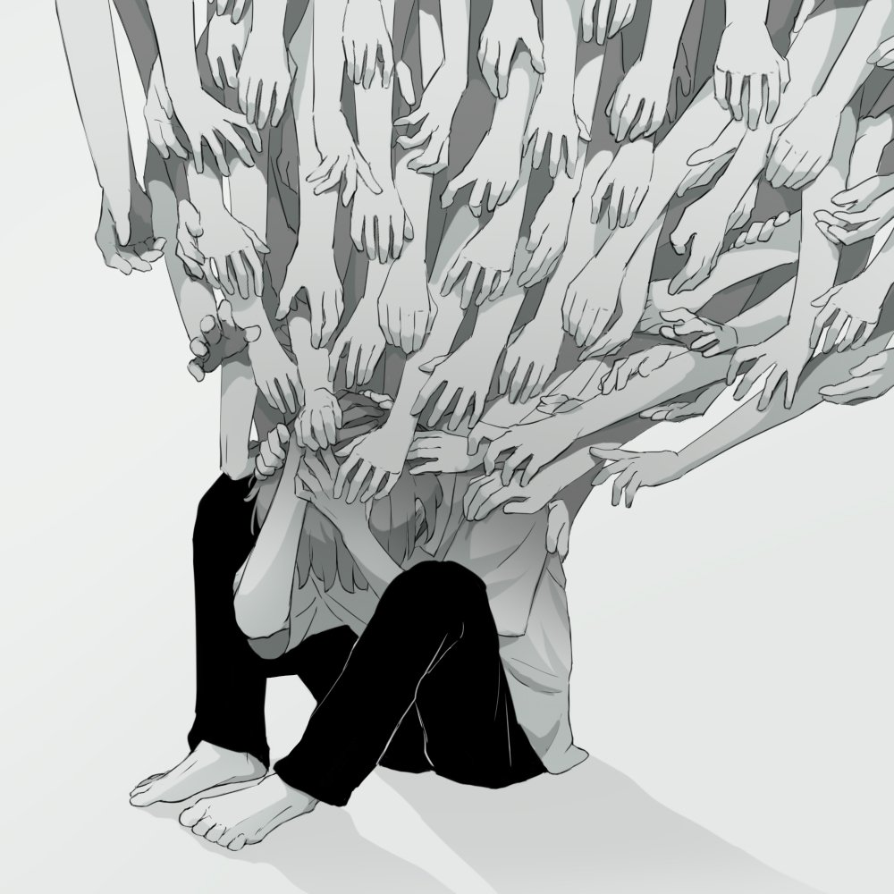 25張「戳破現代人最虛偽一面」的黑暗深度插畫 你也是...從小到大都身不由己嗎?
