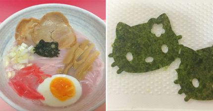 日本推出超夢幻「Hello Kitty泡麵」 超夢幻「粉嫩櫻花麵」少女心爆發!