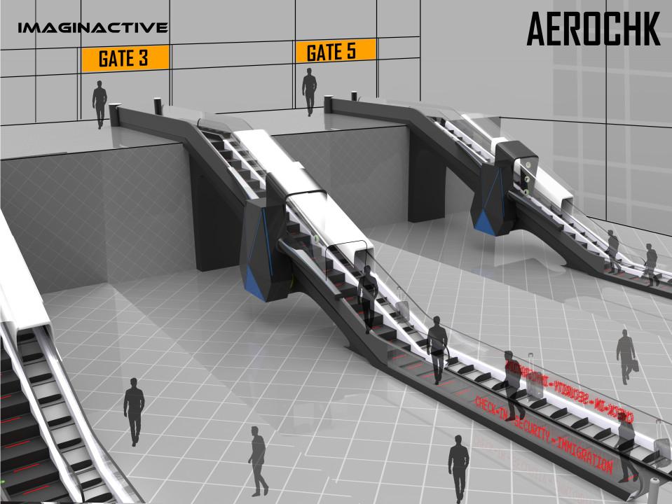 機場推「安檢自動手扶梯」高效率自動通關 「大門→登機口」只要5分鐘!