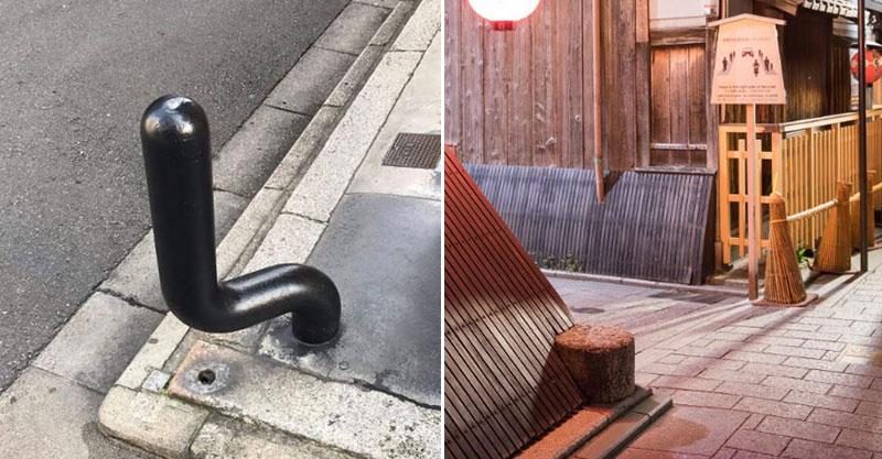 日本馬路轉角驚見「不明棒狀物」 竟是京都人可以優雅「防三寶的神器」!